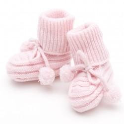 Pom-pom booties - Pink