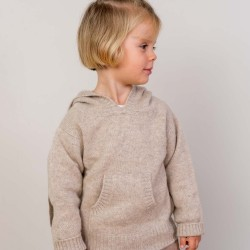 Hooded jumper - Camel