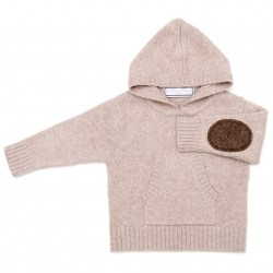 Hooded jumper - Light Beige