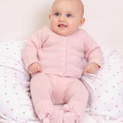 Emma V neck cardigan - Pink