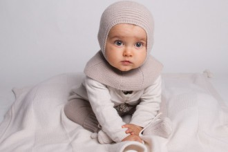 Cashmere Baby Bonnet and Accessories - French design cashmere balaclava
