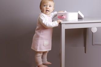Cashmere baby dresses by Les Tricots de Margot