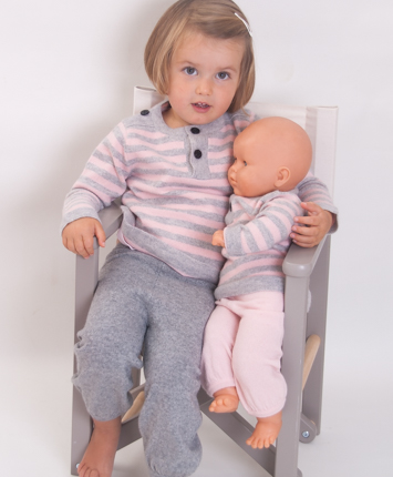 Little sailor Look for girls 100% cashmere